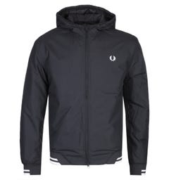 Fred Perry Padded Black Hooded Sports Jacket