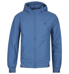Fred Perry Padded Midnight Blue Hooded Sports Jacket