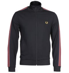 Fred Perry Taped Sleeve Black Track Jacket