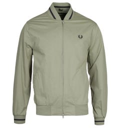 Fred Perry Light Sage Tennis Bomber Jacket