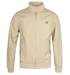 Fred Perry Check Lined Dark Stone Harrington Jacket