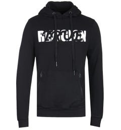 True Religion Baseball Print Black Pullover Hoodie