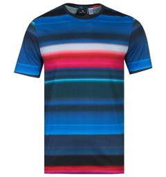 PS Paul Smith Regular FIt Short Sleeve Multi Colour Print T-Shirt