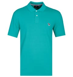 PS Paul Smith Regular Fit Short Sleeve Turquoise Polo Shirt