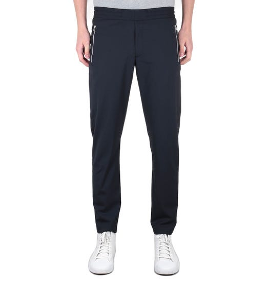 PS Paul Smith Drawstring Waist Navy Trousers