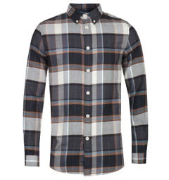 PS Paul Smith Tailored Fit Long Sleeve Brown Checked Shirt