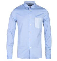 PS Paul Smith Tailored Fit Long Sleeve Blue Pocket Shirt