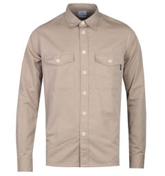 PS Paul Smith Casual Fit Long Sleeve Beige Pocket Shirt