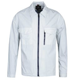 PS Paul Smith Zip Through Dusty Blue Overshirt