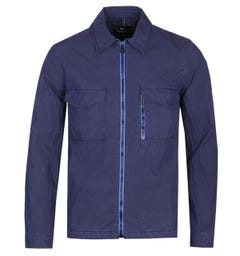 PS Paul Smith Zip Through Navy Overshirt