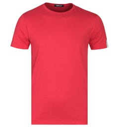 Replay Block Colour Red Logo T-Shirt