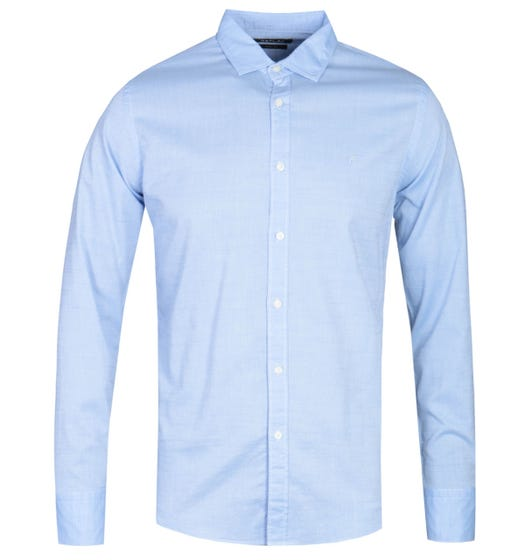 Replay Slim Fit Sky Blue Short Sleeve Shirt
