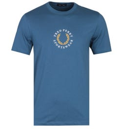 Fred Perry Embroidered Logo Midnight Blue T-Shirt