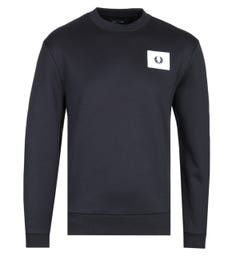 Fred Perry Acid Brights Black Sweatshirt