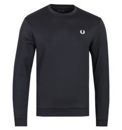 Fred Perry Laurel Wreath Logo Black Sweatshirt