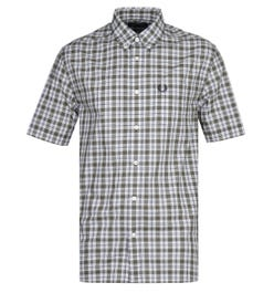 Fred Perry Small Check Blue & Grey Shirt