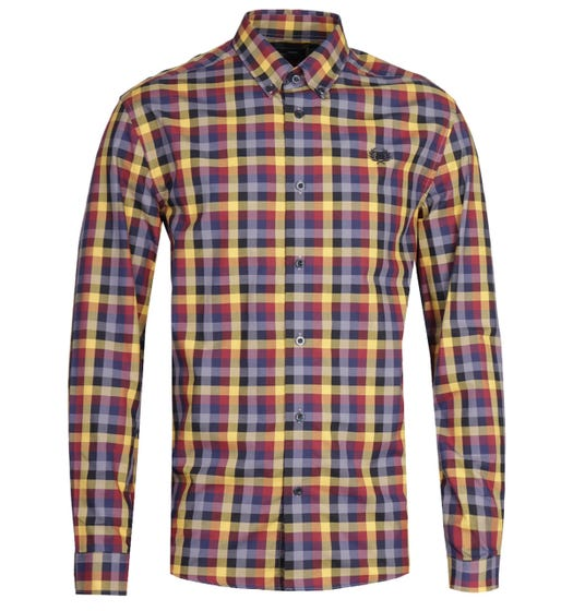 Fred Perry Five Colour Check Long Sleeve Gingham Shirt
