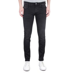 Replay Anbass Slim Fit 11.5 Oz Hyperflex Black Wash Denim Jeans