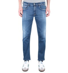 Replay Grover Straight Fit 11.5 Oz Hyperflex Light Blue Wash Denim Jeans