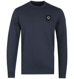 MA.Strum Training Dark Navy Crew Neck Sweatshirt