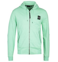 MA.Strum Full Zip Mint Green Training Hoodie