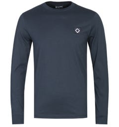 MA.Strum Long Sleeve Dark Navy Icon T-Shirt