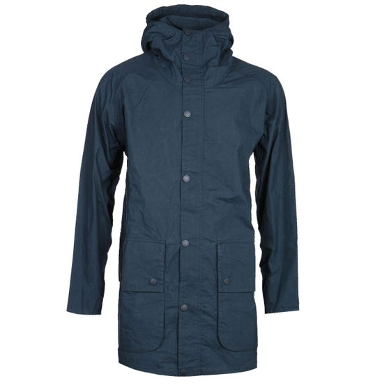 Barbour Bedale Oversize White Label Navy Jacket