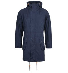Barbour x Engineered Garments Washed Navy Highland Parka
