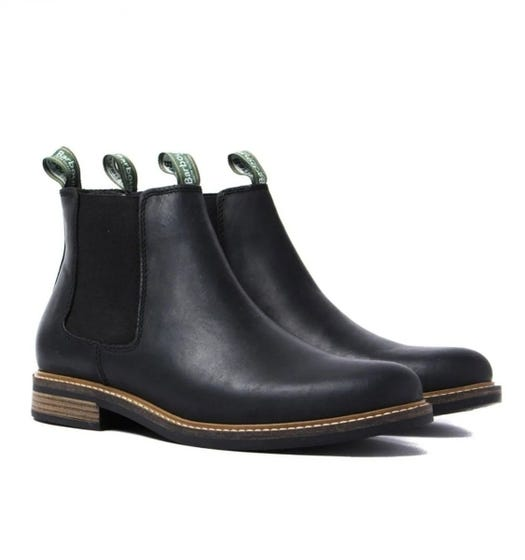 Barbour Farsley Black Leather Chelsea Boots