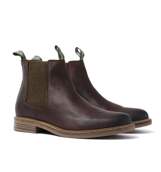 Barbour Farsley Choco Leather Chelsea Boots