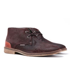Barbour Dark Brown Kalahari Suede Desert Boots
