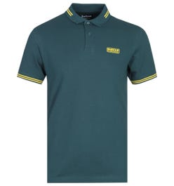 Barbour International Essential Pine Green Tipped Polo Shirt