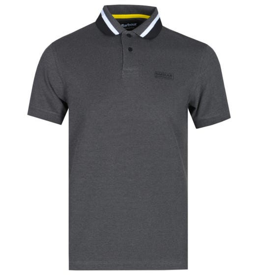 Barbour International Diode Tipped Charcoal Polo Shirt