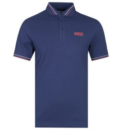 Barbour International Switch Tipped Navy Polo Shirt