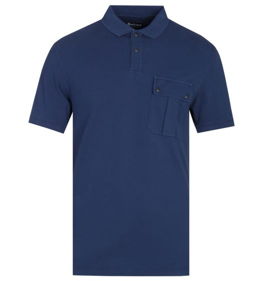 Barbour International Hud Pocket Regal Blue Polo Shirt