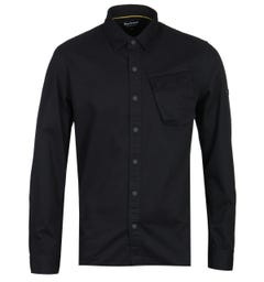 Barbour International Pop Stud Black Overshirt