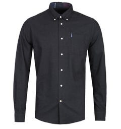 Barbour Aviemore Tailored Fit Dark Grey Flannel Shirt