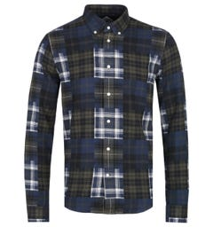 Barbour Beacon Forest Green & Navy Flannel Check Shirt