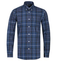 Barbour Sandwood Tailored Fit Ink Blue Tartan Check Shirt