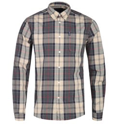Barbour Sandwood Tailored Fit Stone Tartan Check Shirt
