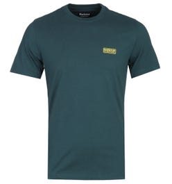 Barbour International Pine Green Small Logo Crew Neck T-Shirt