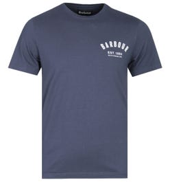 Barbour Tailored Fit Navy Preppy T-Shirt