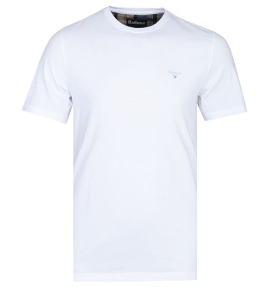 Barbour Tailored Fit Arboyne White T-Shirt