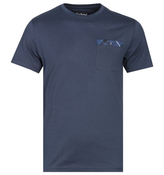 Barbour Durness Tailored Fit Navy Pocket T-Shirt