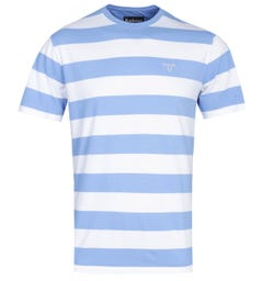 Barbour Tailored Fit Sky Blue Beach Stripe T-Shirt