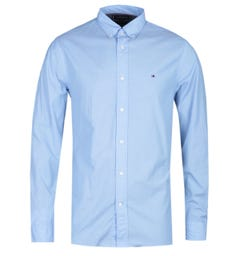 Tommy Hilfiger Regular Fit Sky Blue Poplin Long Sleeve Shirt