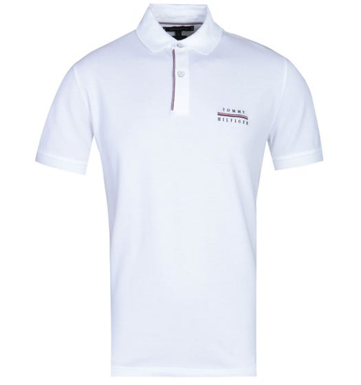Tommy Hilfiger Regular Fit White Logo Polo Shirt