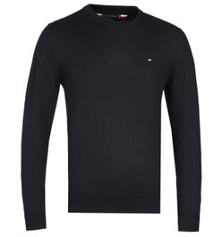 Tommy Hilfiger Luxury Touch Black Crew Neck Sweater