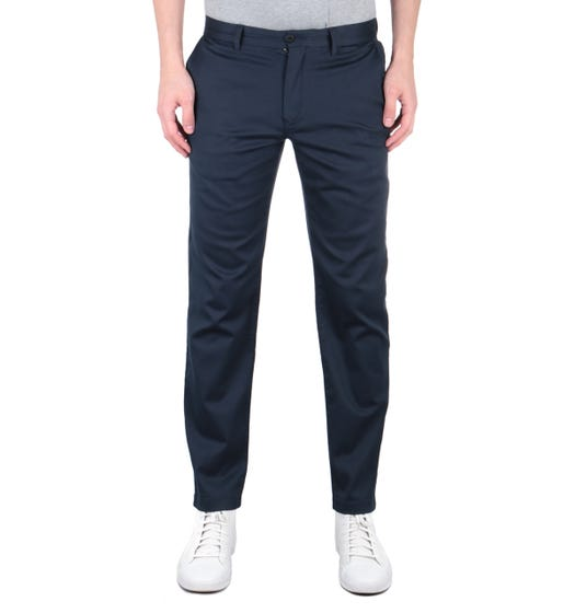 Tommy Hilfiger Tapered Fit TH Flex Navy Trousers
