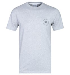 Norse Projects Niels Light Grey Wave Logo T-Shirt